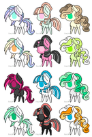 Cheap Pony Adoptables :: OPEN by ColbieWhite
