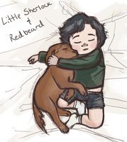 Little Sherlock and redbeard by Silent--Haze