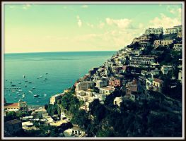 The Town of Positano by Moose-Art