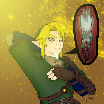 Link eat Fairies (2017 Redraw) by BigClaudia