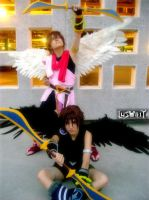 cosplay Pit negro y rosa by Lusorita