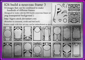 826 Build A Nouveau Frame Set3 by Tigers-stock