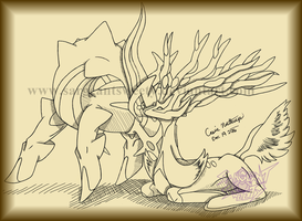 Comm- Arceus and Xerneas Nuzzles by SargeantSweety