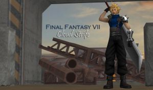FF7 Cloud Strife 100% pose-able (Updated) by bstylez