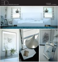 Bedroom 773sq ft camera angle by 3DEricDesign