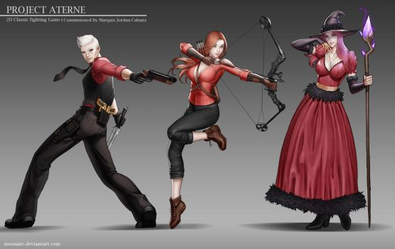 Project Aterne Character concept 1 by Moonarc