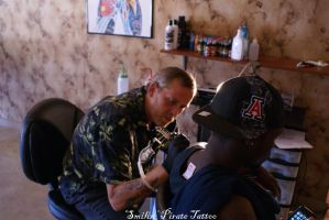 Bill Tattooing Spillz 8 by SmilinPirateTattoo