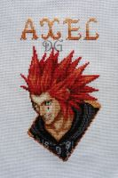 Axel (Kingdom Hearts) embroidery by didi-gemini