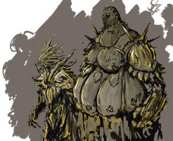 Ornstein and Smough by Halycon450