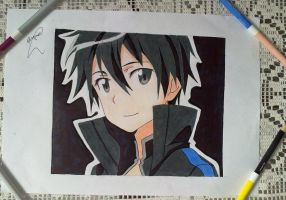 KIRITO  SWORD ART ONLINE by powre