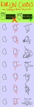 Chibi Tutorial: The Squiggly Bean by Karijn