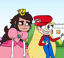 Princess Marco Toadstool and Super Star by FlyingPrincess