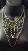 Brass Chainmail Necklace 2 by MorganCrone