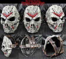 Demon Jason Mask with Leather straps by Uratz-Studios