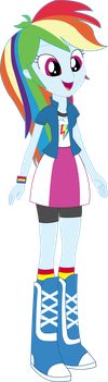 Vector - EqG Rainbow Dash by SketchMCreations