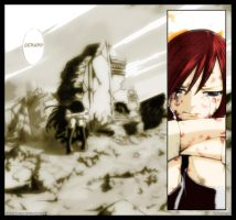 Erza crying by Orphangel