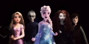 The Big Four with Elsa by 1JoyDreamer
