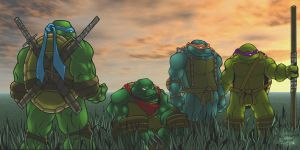 TMNT feilds by scribblesartist