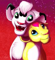 Cute lion cubs by Anjali2010
