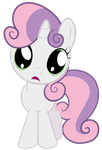Sweetie Belle's Puppy Eyes by SpellboundCanvas