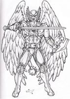 Sketch: Hawkman by micQuestion