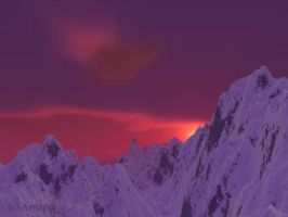 Snowy Mountains by Antares2