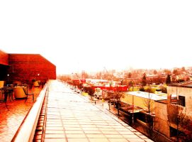 Red brick Balcony number two by Bigcandy
