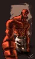 Gutz Hellboy by dcjosh