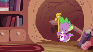 Spike and the Twilight staff by eramthgin-1027501