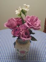 Rose Bouquet for a Tea Party by Tarmetiel