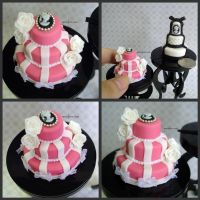 1-12 Pink Cameo Cake by Snowfern