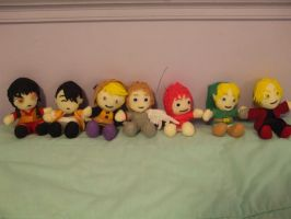 Plushie lineup by Ferngirl