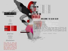 Rihanna Layout by Crying-Red