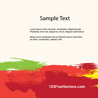 Colorful Brush Strokes Background Template Vector by 123freevectors