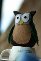 Owl in Felt by noasign