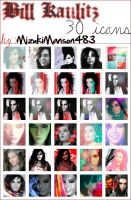 Bill Kaulitz 30 icons by MizukiManson483