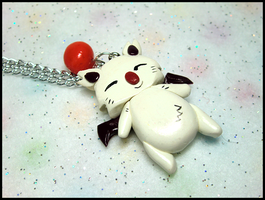 FF9 Moogle Necklace by GrandmaThunderpants