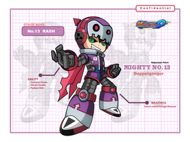 Mighty No.9 - No.9 Rash the Doppelganger by Rubensonps3