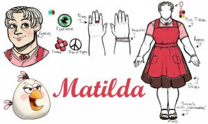 Angry Birds Toons : Matilda Humanization by MemQ4