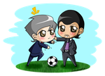 Mou and Pep by YukiMiyasawa