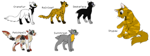 Warrior Cat Adopts CLOSED by FrozenAdopts