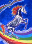 Unicorn Skeleton in Space by asamamoru
