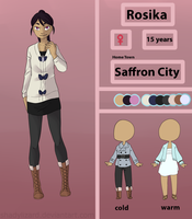 Pokemon FC: Rosika Reference Sheet by Amadere