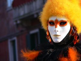 Orange Mask by SilviaVanni