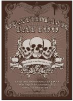 deathmask tattoo poster by phatik