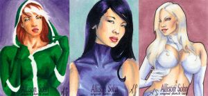 X-Ladies Sketch cards by AllisonSohn