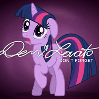 Demi Lovato - Don't Forget (Twilight Sparkle) by AdrianImpalaMata