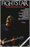 fightstar tour poster by operation182