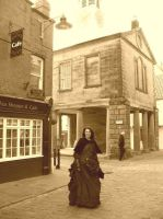Whitby gothic weekend sepia by Abigial709b