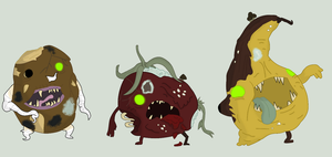 Adoptables - Zombie Produce #1 by Ask-The-Great-Kazaa
